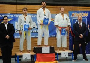 Erik Platz 1, Sergej Platz 2 und Steve Platz 3