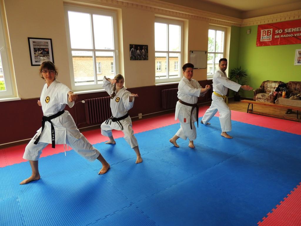 Katatraining im Isamu Karate Dojo Eberswalde