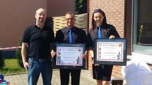 ISAMU Karate Ehrenmitgliedschaft für Harald Folladori und Daniela Klopfer